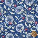 リバティプリント タナローン560(Dandelion Dance ダンデライオン・ダンス)ブルー【DC29102】