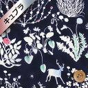 リバティプリント 【ベンベルグ裏地(キュプラ)】92(Yoshie ヨシエ)ネイビー[10-3630278・10D]