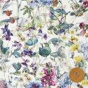 リバティプリント タナローン320(Wild Flowers ワイルド・フラワーズ)《復刻色》モスグリーン&カラフル