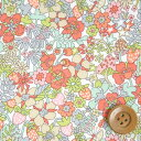 リバティプリント タナローン505(Flower Tops フラワー・トップス)ペール