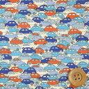リバティプリント タナローン46(Cars カーズ)ブルー&...