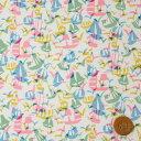 リバティプリント タナローン(Set Sail セット セイル)ピンク&イエロー【19-3639141 19BT】