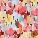リバティプリント タナローン(Tulip Fields チューリップ・フィールズ)レッド&ピンク【20-36301127・20AT】
