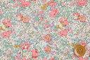 リバティプリント タナローン生地(Claire-Aude クレア・オード)ピンク&ライトブルー【3332022】 リバティ