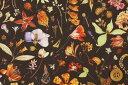 リバティプリント タナローン生地(Floral Eve フローラル・イヴ)ブラウン【3633189】