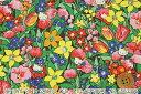ハローキティ × リバティプリント(Rico & Froris リコ&フローリス)カラフル&ブラウン【DC28396】 リバティ【10P03Dec16】