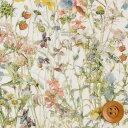 【サンドウ限定復刻色】リバティプリント タナローン生地(Wild Flowers/ライトグリーン&パ