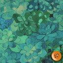 【サンドウ限定復刻色】リバティプリント タナローン生地(Emerald Bay エメラルド・ベイ)グリーン&ブルー【15-3635258】