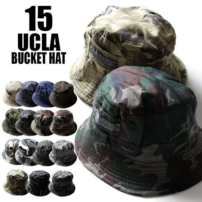 バケットハット コットン サファリハット【 メール便 送料無料 】 UCLAの 迷彩柄 バ…...:auc-t-link:10024457