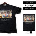 ★メール便送料無料★+graph デザインTシャツ LAST ROCK STAR イギリスの晩餐会 2カラー【デザインTシャツ ストリートTシャツ メンズTシャ...
