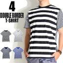 ボーダーTシャツ メンズ デザインTシャツ大人気の バ