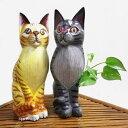 リアル猫オブジェ Lサイズ 30-32cm