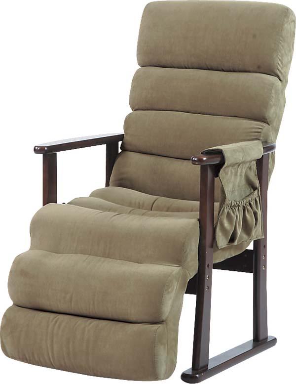 【送料無料】即納可能】オットマン付きハイバックリクライニングチェア肘付き高座椅子レバー式リクライニングソファ無段階1人掛けソファーらくらくチェア介護椅子リクライナー安楽椅子やすらぎチェア肘掛椅子1人掛け椅子パーソナルチェア敬老の日父の日母の日ギフト仮眠椅子 フットレスト付きリクライニングチェア●リクライナー極楽椅子ゆったりくつろげる肘掛け椅子介護用ソファー介護チェア・ラクラクチェア木肘椅子仮眠用椅子リラックスチェア昼寝チェア少ない