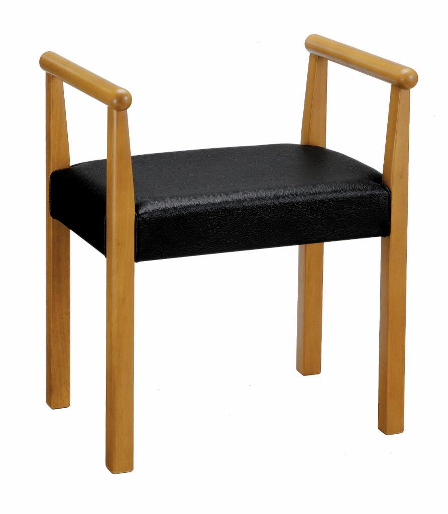 【送料無料】【即納可能】肘付き背もたれ無し高座椅子天然木マイアン材ひじ付きらくらく椅子肘付き1人掛けベンチ介護チェアーラクラク椅子肘掛椅子肘掛チェアー両肘椅子シルバー支援チェア木肘付き腰楽チェア立ち上がりサポートチェア立上がり支援サポート椅子黒色ブラック
