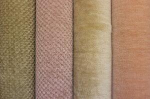 ピオラ&ヴィヴィ_左から(ヴィヴィ)ベージュ、ピンク、(ピオラ)ライトベージュ、オレンジ系