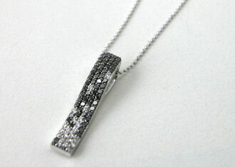 Black Diamond diamonds pendant K18WG necklace