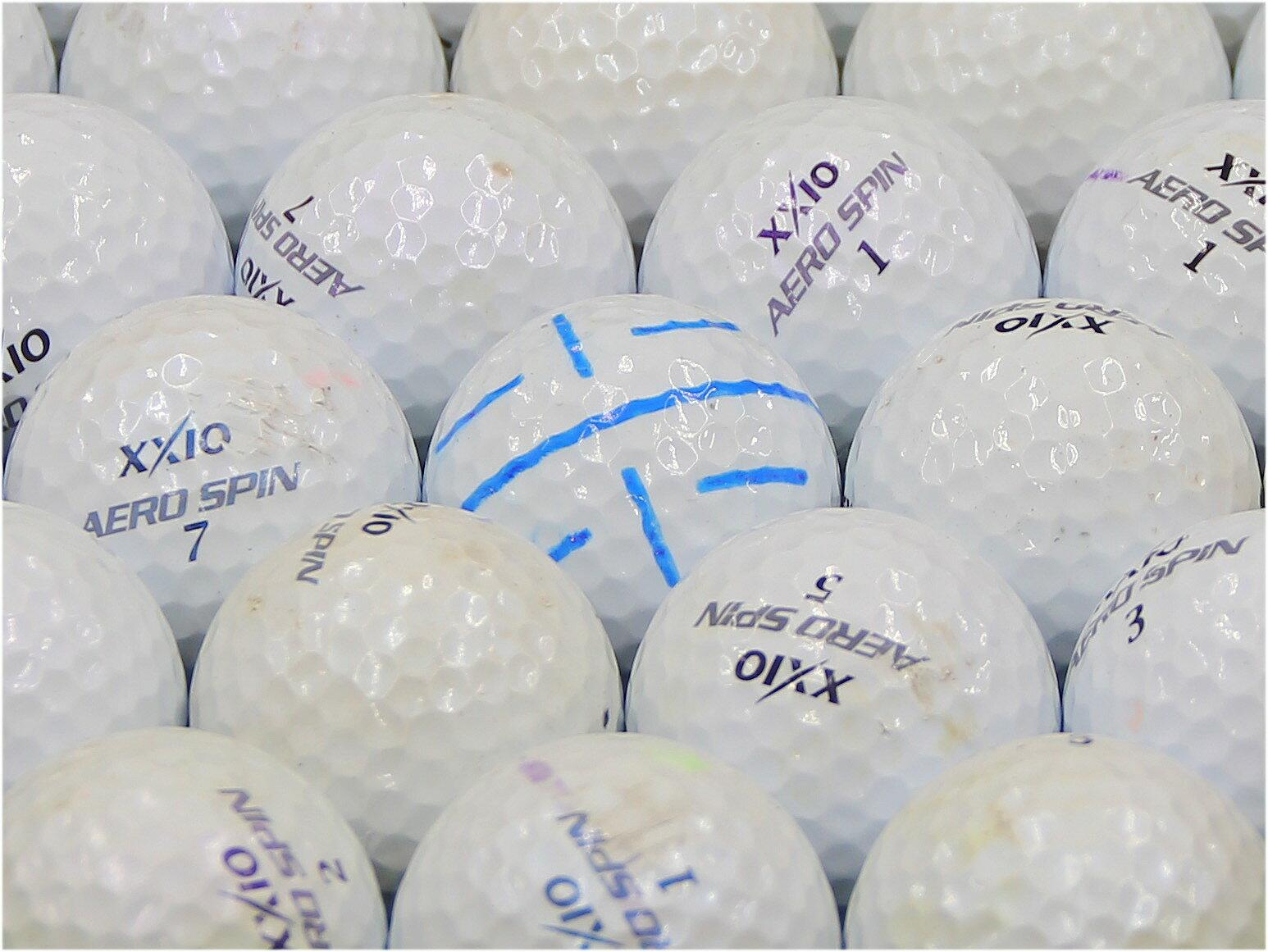 【Bランク】ゼクシオ ゴルフ AERO SPIN ホワイト系混合 スリクソン 200個セット【 激安】【ロストボール】【】:球手箱 店 当店ランクNo.3 『格安Bランク』
