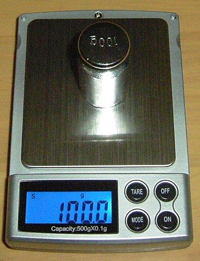 精密はかりデジタルスケール●0.1gで500gまで計量計量精密光るはかり日本語説明書付...:auc-ten-kou:10000113