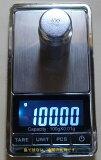 ●数码精密天平上的6个大型精密最新0.01克100克的小规模项目的数字光测量单位来计算的数目[最新商品小型デジタル精密はかりデジタルスケール単位7種類●0.01gで100gまで計量数も数える精密光るはかり日本語説明書付]
