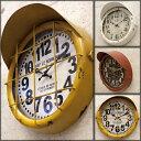 アンティーククロック 壁掛け時計 掛け時計 サブマリン アンティーク仕上げ アンティーク雑貨 レトロ アメリカン雑貨 クロック イエロー レッド ホワイト