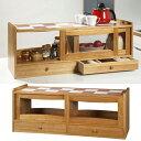アウトレット 特価 カウンター収納庫 幅90cm キッチン 収納 食器棚 カウンターラック カウンター上置き