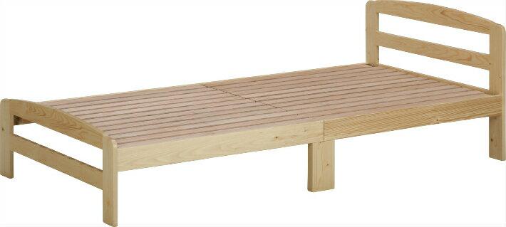 【送料無料】シングルベッド フレーム 木製ベッド マリオNA カントリー調ベッド シングルサイズ パイン材 ナチュラル