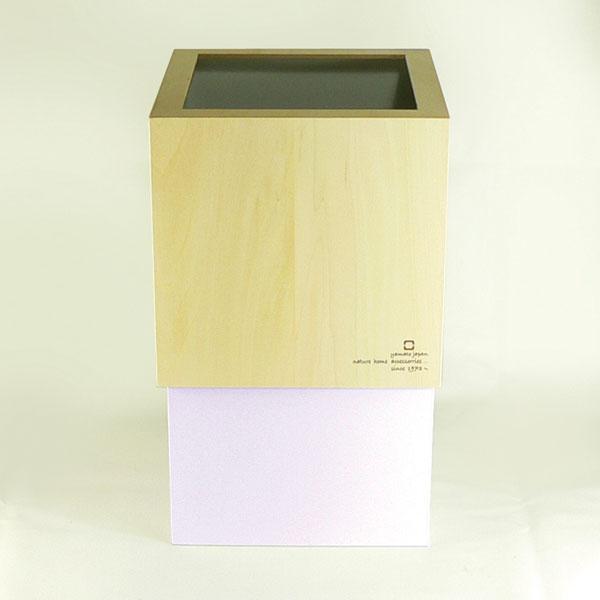 【送料無料】W-CUBE ダストボックス ホワイト/ゴミ箱/ごみ箱