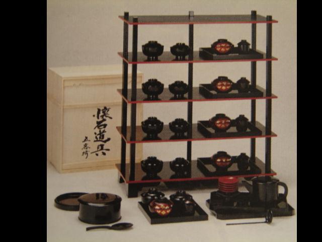 【茶器/茶道具・懐石道具】 懐石道具揃え 懐石道具一式 懐石道具セット 本漆塗木製