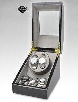 【楽天ランキング1位獲得!】【全国送料無料】高級ワインディングマシン・ウォッチワインダーマブチモーター・時計・2本巻+収納3本合計5本用・木製・ピアノ調塗装・鏡面仕上げ・時計・自動巻き・レディース、メンズ時計対応ワインディングマシーン/