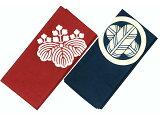 正絹白山紬の紋付風呂敷です。風呂敷 正絹白山紬 24幅(約90cm幅)  既製紋入