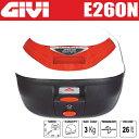 GIVI ジビ リアボックス モノロックケース トップケース カラー パールホワイト ストップランプ付き バイク用ボックス GIVI製 高品質リアボックス 容量...
