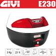 GIVI ジビ リアボックス モノロックケース トップケース カラー ソリッドホワイト ストップランプ付き バイク用ボックス GIVI製 高品質リアボックス 容量 23L E230B906送料無料