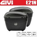 GIVI ジビ サイドケース リアボックス パニアケース 未塗装ブラック 容量 21L E21N バイク用ボックス GIVI製 高品質サイドボックス