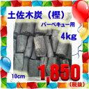 バーベキューにピッタリ!焼肉に♪土佐四万十の土佐木炭(樫)4kg◆あす楽◆