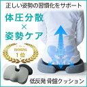 【 体圧分散でしっかり腰痛対策 】 LaKuun (ラクーン) 低反発 骨盤 クッション 骨盤矯
