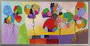 油絵 額装 肉筆絵画 オイル ペイント アート「ビビッド フラワーズ」OP-22023-新品