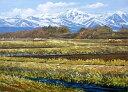 油絵 肉筆絵画 P3サイズ 「八ヶ岳」 広瀬 和之 木枠付 -新品