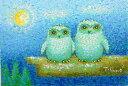 油絵 肉筆絵画 F6サイズ 「白ふくろう」 佐野 千恵子 木枠付 -新品