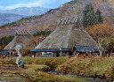 油絵 肉筆絵画 SMサイズ 「美山風景」 折戸 和人 木枠付 -新品