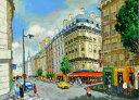 油絵 肉筆絵画 F30サイズ NO.5 「パリの街(1)」 斎藤 要 木枠付 -新品