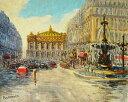 油絵 肉筆絵画 F6号(絵寸410X318mm) ペチャウベス作 「パリ4:ノートルダム寺院」 木枠付-新品
