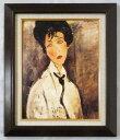 額装 複製名画 F6 モディリアーニ 「黒ネクタイの女」TO -KL02BR-新品