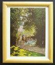 額装品 名画ポスター モネ「Parisiens au parc Monceau」 新品