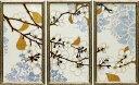 ユニットアートシリーズ ノーマン ワイアット ジュニア「ダマスク チェリー ブロッサム」 3枚セット NW-22001-新品
