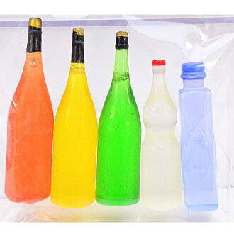 ☆There are no five again backordered ☆ miniature miscellaneous goods winebottle set labels