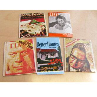 Miniature gadgets magazine covers set of 5