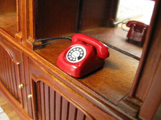 Miniature miscellaneous goods red public phone