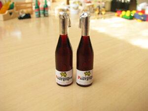 ミニチュア雑貨ブルゴーニュ風ワイン2本セット[51016]画像