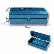 【人気商品】ミニチュア雑貨 ブルーメタルのツールボックス [MWJM19][m-s]●【ネコポス配送対応】