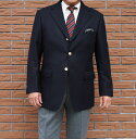 秋冬 紺ブレザー フラノブレザー ネイビー 3つボタン 金ボタン 【ウール100%】 メンズ ジャケ...